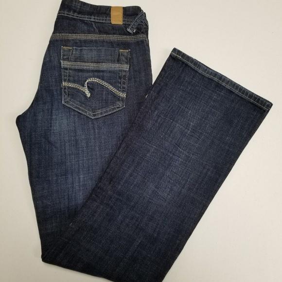 Maurices Womens Curvy Dark Denim  Blue Jean Shorts Size 3/4 Women's Clothing